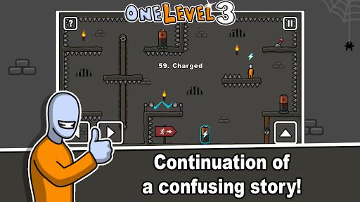 بازی اندروید فرار از زندان استیکمن - One Level 3: Stickman Jailbreak