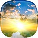 پس زمینه زنده طلوع خورشید