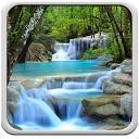 پس زمینه زنده آبشار
