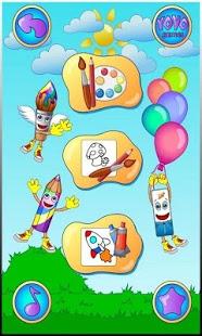 بازی اندروید رنگ آمیزی کودکان - Drawing, Coloring for Kids