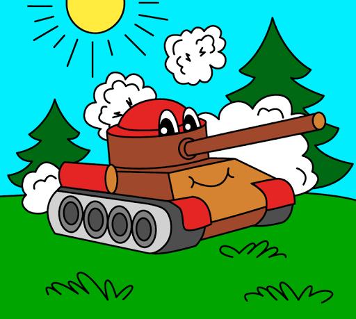 بازی اندروید صفحات رنگ آمیزی برای کودکان - حمل و نقل - Coloring pages for children : transport