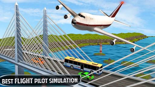 بازی اندروید شبیه ساز سه بعدی پرواز هواپیما - Flying Plane Flight Simulator 3D