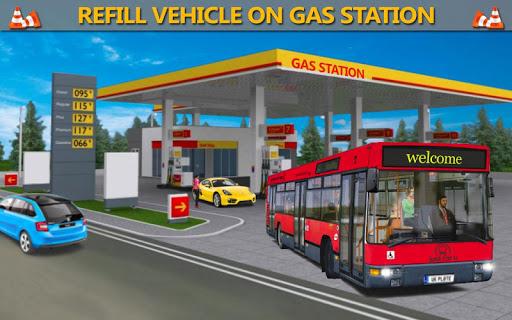 بازی اندروید شبیه ساز رانندگی اتوبوس - Gas Station Bus Driving Simulator