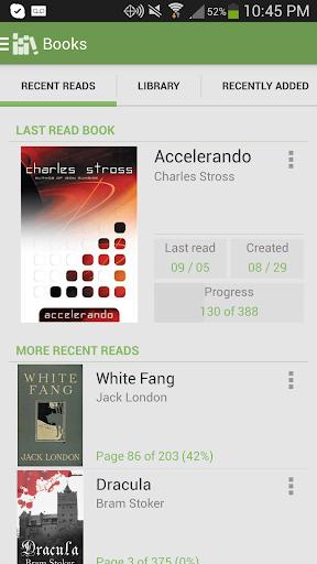 نرم افزار اندروید کتاب خواننده آلدیکو - Aldiko Book Reader