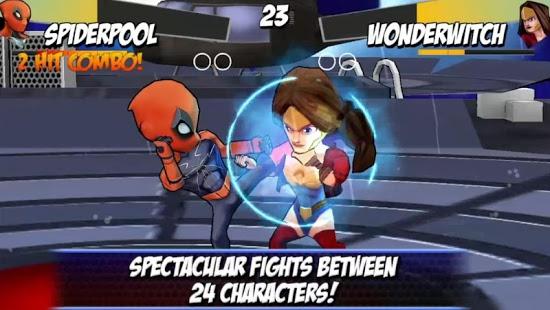 بازی اندروید دعوای قهرمانان - Superheros Free Fighting Games