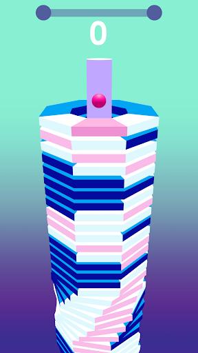 بازی اندروید رقص مارپیچ - رنگارنگ چرخان - Dancing Helix: Colorful Twister
