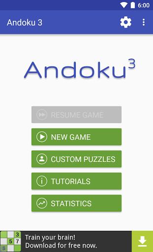 بازی اندروید آندوکو - سودوکو - Sudoku: Andoku 3 Free