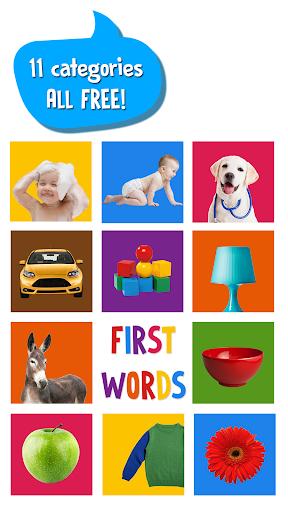بازی اندروید کلمات اول برای کودک - First Words for Baby