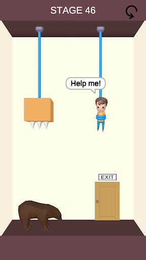 بازی اندروید برش نجات - پازل طناب - Rescue Cut - Rope Puzzle