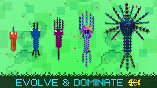 بازی اندروید پیکسل تیغ ماهی - Pixel Sword Fish io