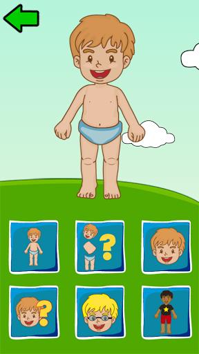 بازی اندروید اعضای بدن برای کودکان و نوجوانان - Body Parts for Kids