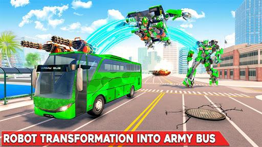 بازی اندروید ترانسفورماتور اتوبوس ارتش - ربات جت - Army Bus Robot Transform Wars – Air jet robot game