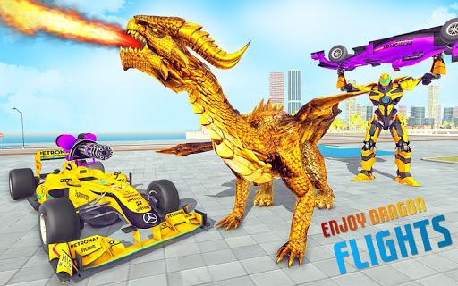 بازی اندروید ربات اژده ها-  تبدیل ربات - Dragon Robot Car Game – Robot transforming games