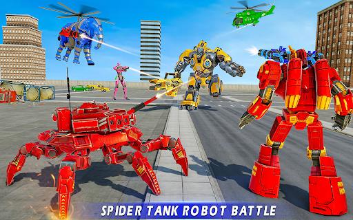 بازی اندروید بازی اتومبیل ربات تانک عنکبوتی - بازی ربات فیل - Spider Tank Robot Car Game – Elephant Robot Game