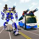 جنگ ربات ترانسفورماتور اتوبوس - بازی ربات پلیس