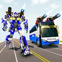 بازی جنگ ربات ترانسفورماتور اتوبوس - بازی ربات پلیس