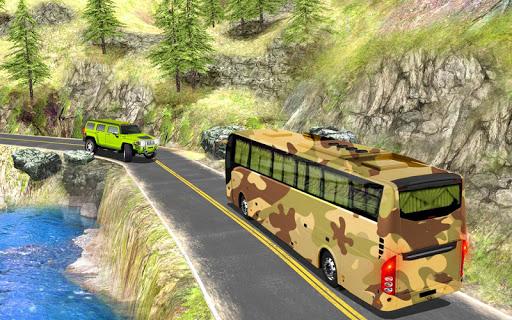 بازی اندروید شبیه ساز اتوبوس ارتش - راننده اتوبوس - Army Bus Simulator 2020: Bus Driving Games