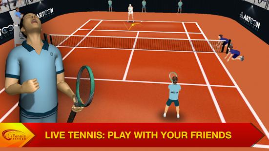 بازی اندروید تنیس چند نفره - Tennis Multiplayer