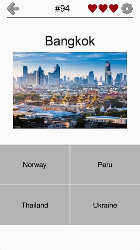 بازی اندروید پایتخت کشورهای جهان - Capitals of All Countries in the World: City Quiz