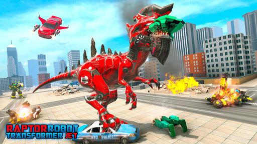 نرم افزار اندروید جنگ دایناسور ترانسفورماتور - پرواز اتومبیل ربات - Dino Bot Transform Wars: Flying robot car games