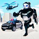 تحول ربات پلیس پاندا - تیراندازی با روبات