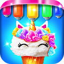 کیک درخشان پری دریایی -  بستنی بازی مخروطی