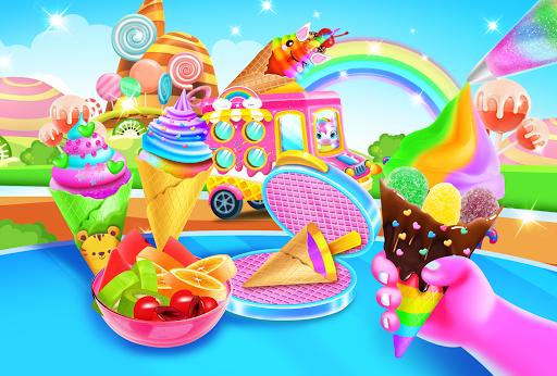 بازی اندروید کیک درخشان پری دریایی -  بستنی بازی مخروطی - Mermaid Glitter Cupcake Chef - Ice Cream Cone Game