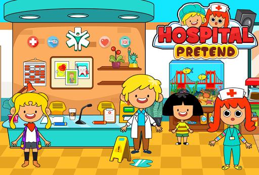 بازی اندروید بیمارستان کودکان شهر - My Pretend Hospital - Kids Hospital Town Life FREE
