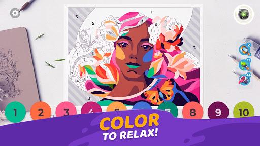 بازی اندروید گالری کتاب رنگ آمیزی با شماره - بازی دکوراسیون منزل - Gallery: Coloring Book by Number & Home Decor Game