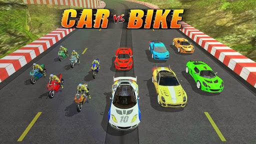 بازی اندروید مسابقه اتومبیل موتور سیکلت - Car vs Bike Racing