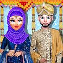 سالن عروسی و پیراستن دخترانه با حجاب کشمیری