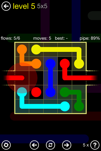 بازی اندروید جریان آزاد پیچ و تاب - Flow Free: Warps