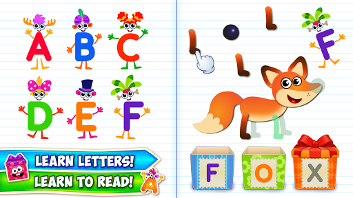 بازی اندروید یادگیری الفبا کودکان - Baby ABC in box! Kids alphabet games for toddlers!