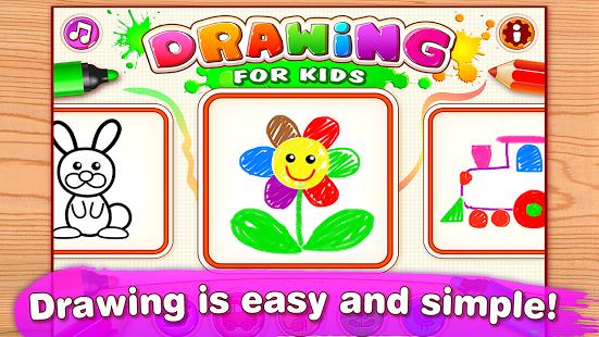 بازی اندروید نقاشی برای کودکان - Drawing for Kids & Toddlers!