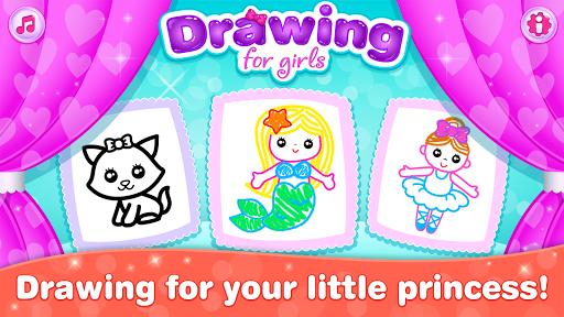 بازی اندروید نقاشی برای دختران - Kids Drawing Games for Girls! Apps for Toddlers!