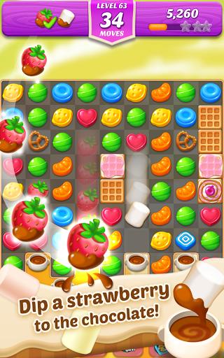 بازی اندروید تطابق آب نبات چوبی و خمیردندان 3 - Lollipop & Marshmallow Match3