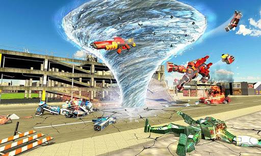 بازی اندروید تبدیل ربات ترانسفورماتور - جنگ های آینده ربات  - Tornado Robot Transforming: Future Robot Wars