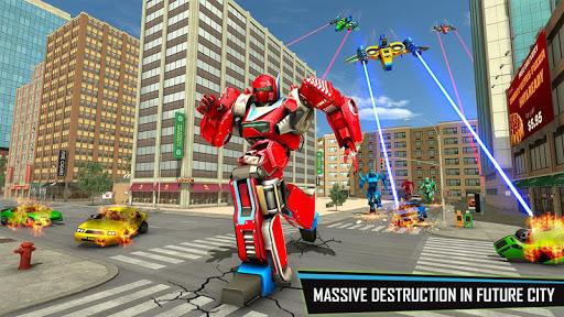بازی اندروید بازی تبدیل ربات - ربات ترانسفورماتور - Drone Robot Car Game - Robot Transforming Games
