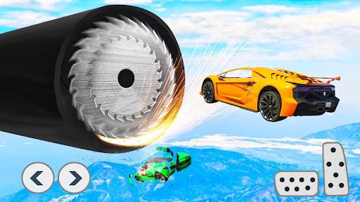بازی اندروید سوپر قهرمان بدلکاری ماشین - بازی مسابقه ماشین - Superhero Car Stunts - Racing Car Games