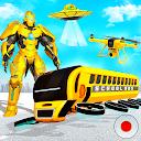بازی پرواز ربات اتوبوس مدرسه - بازی ربات قهرمان