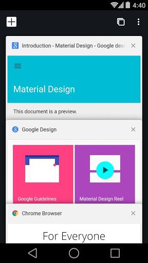 نرم افزار اندروید کروم در حال توسعه - Chrome Dev