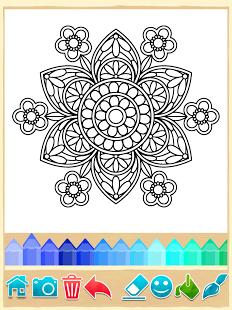 بازی اندروید رنگ آمیزی اشکال - Mandala Coloring Pages