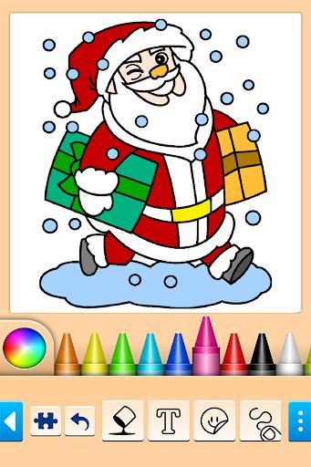 بازی اندروید رنگ آمیزی کریسمس - Christmas Coloring