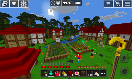 بازی اندروید سیاره مهارت - بلوک مهارت - PlanetCraft: Block Craft Games