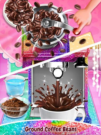 بازی اندروید قهوه تلخ - غذای پرطرفدار تهیه کنید - Glitter Coffee - Make The Most Trendy Food