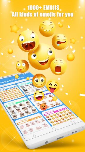 نرم افزار اندروید کیبورد شکلک - Free Emoji Keyboard - Cute Emojis, GIFs, Themes