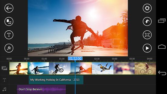 نرم افزار اندروید ویرایشگر ویدیو پاور دایرکتور - PowerDirector Video Editor App