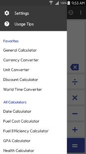 نرم افزار اندروید محاسبه گر - ClevCalc - Calculator