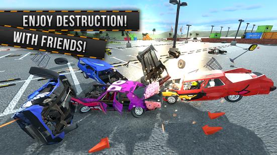 بازی اندروید مسابقه تخریب چند نفره - Demolition Derby Multiplayer