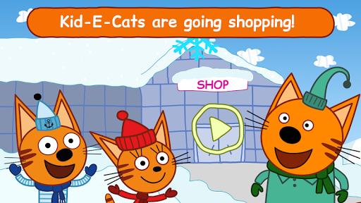بازی اندروید گربه های کوچک - فروشگاه های مواد غذایی  - Kid-E-Cats: Grocery Store & Cash Register Games